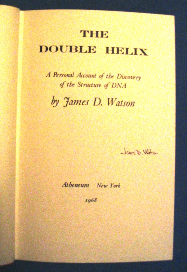 Double Helix - James Watson - Signed Copy