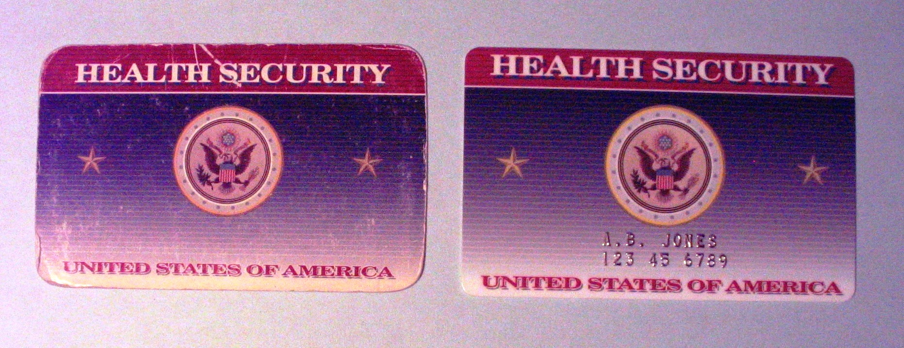 Health Security Cards - Front (1993)