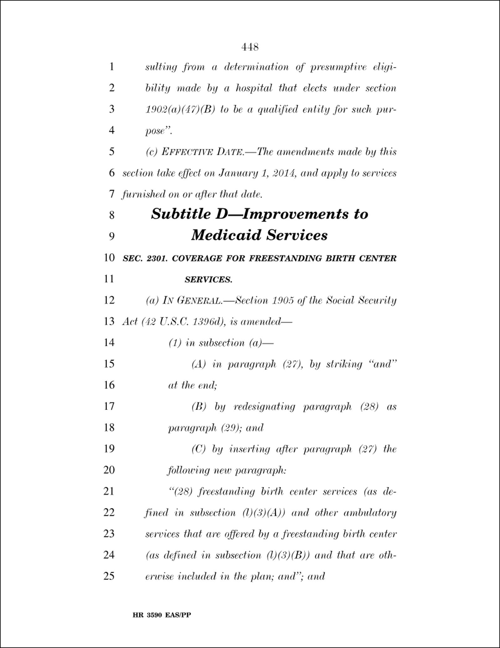 Page 448 of Health Reform Bill