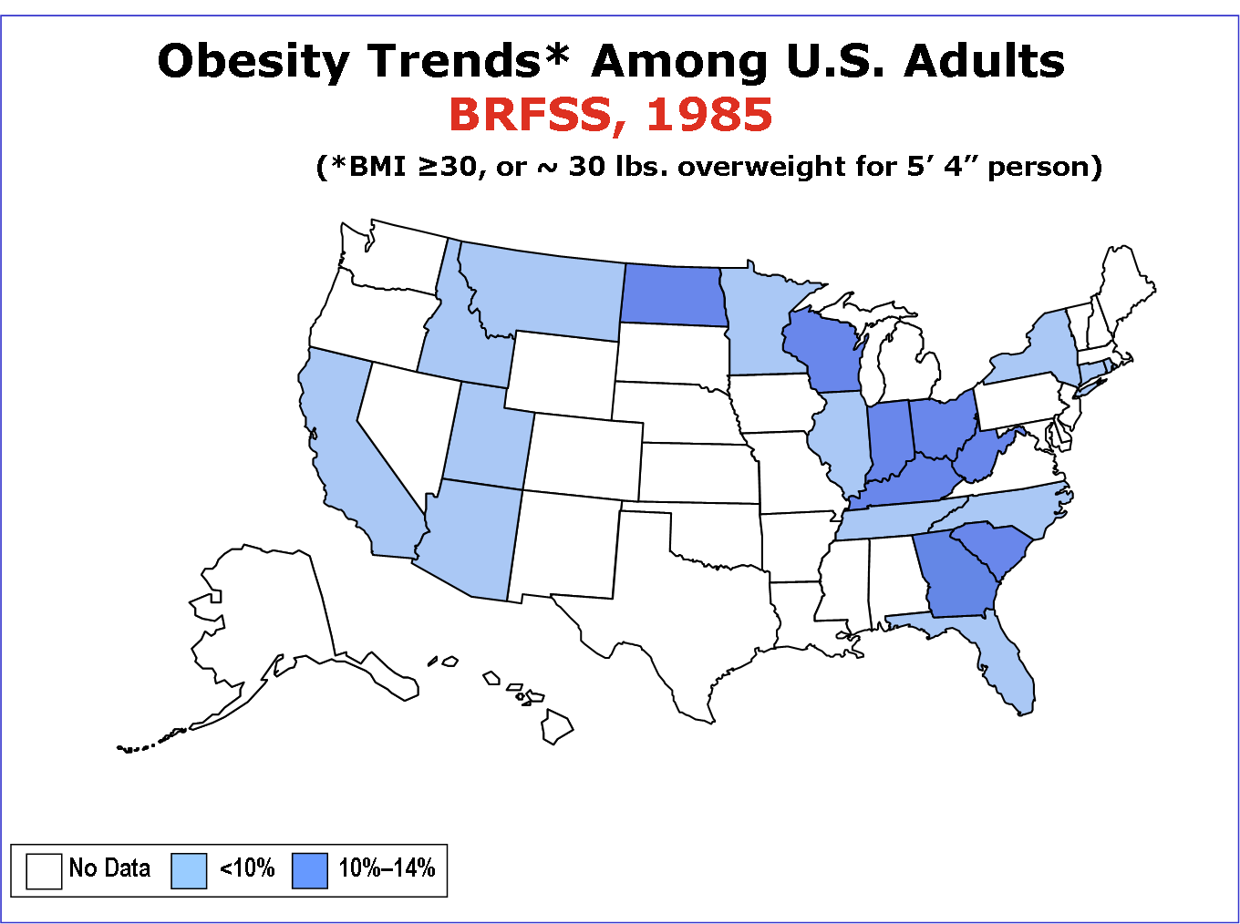 US Obesity Maps 1985