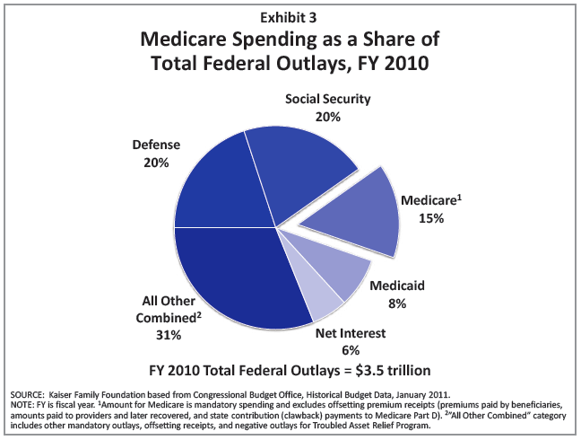 Federal Outlays and Spending - Medicare - 2010 Pie Chart